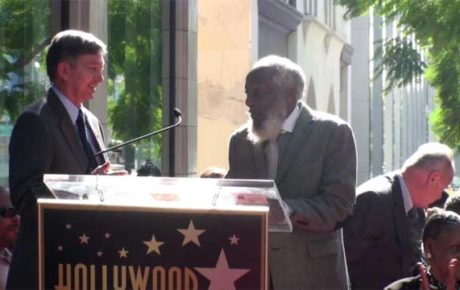 Dick Gregory receives star on the Hollywood Walk of Fame