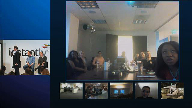 Webcast utilizing Skype Group call. Video feed on the left / Skype call on the right.