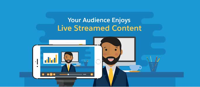 live streaming for business icon