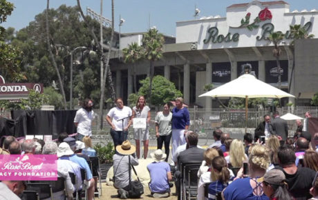 1999 Womens World Cup Statue Unveiling at the Rose Bowl