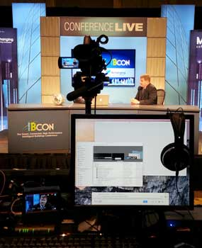 event live streaming in action at a trade show